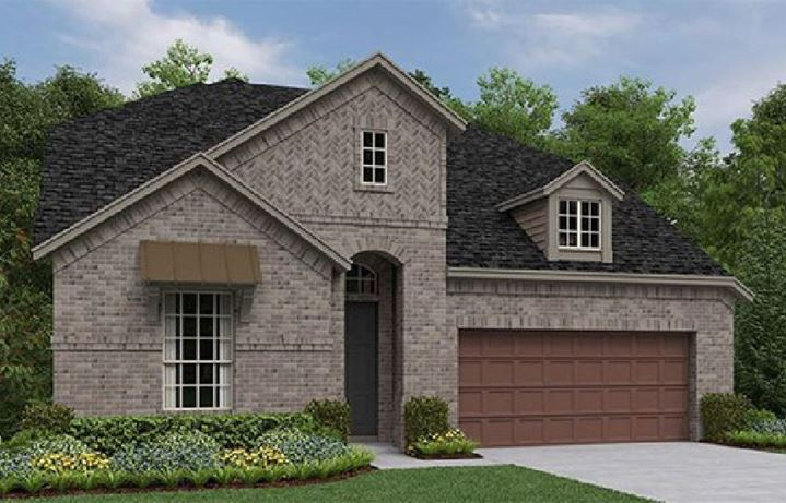 Ashton Woods New Home Plan Salado - Elevation A in Canyon Falls