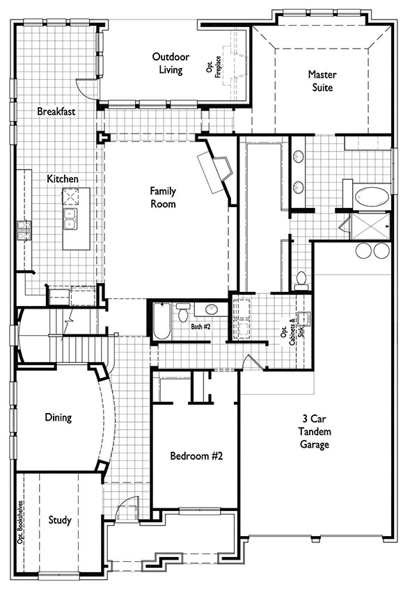 Canyon Falls Highland Homes Plan 246 Floor Plan