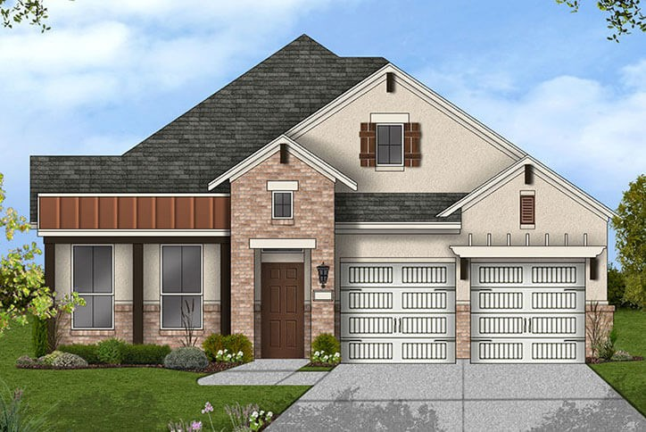 Canyon Falls Coventry Homes Plan 1901 Elevation E