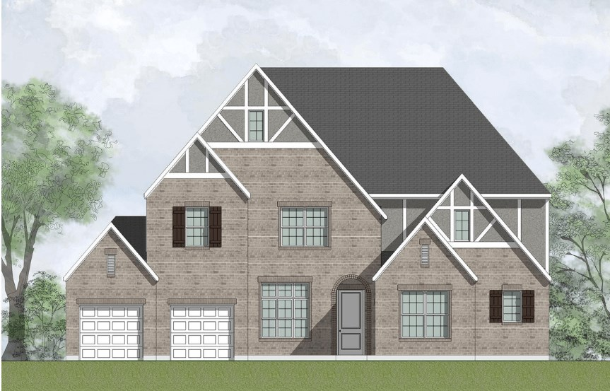 Drees Homes Plan Briargate Elevation in Canyon Falls