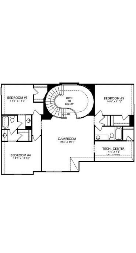 Drees Homes Plan Briargate Floorplan in canyon Falls