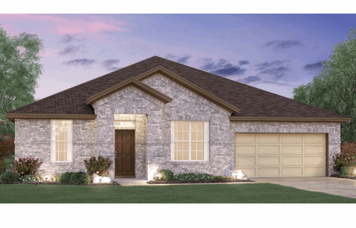 MI Homes Plan Angelina Elevation A in Canyon Falls