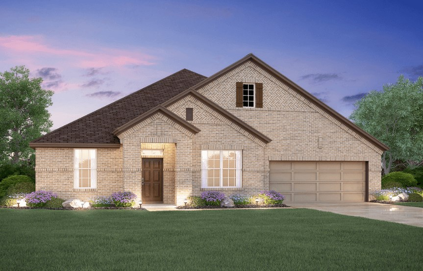 MI Homes Plan Angelina Elevation B2 in Canyon Falls