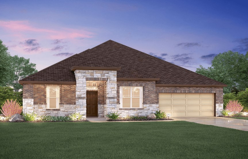 MI Homes Plan Angelina Elevation C2 in Canyon Falls