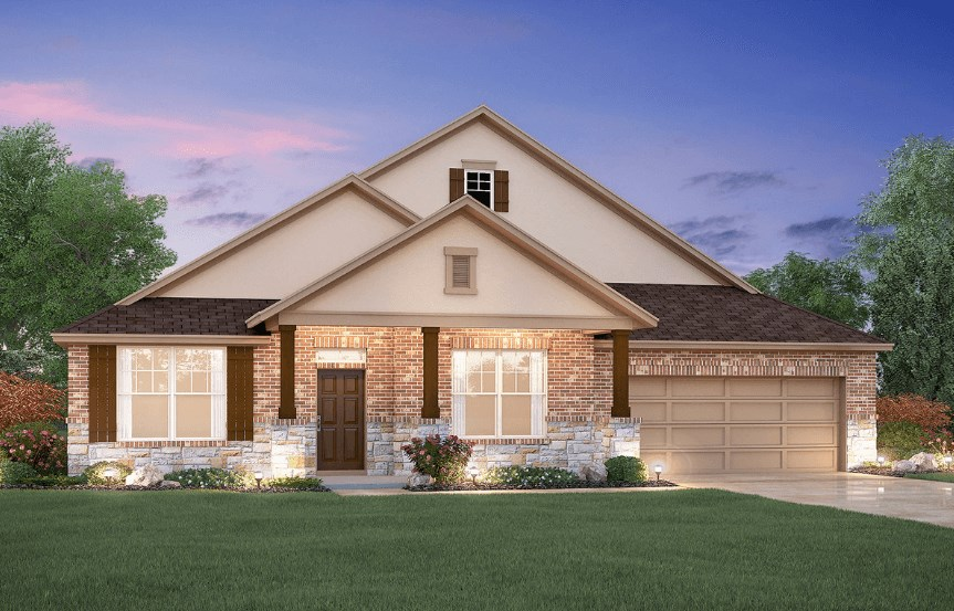 MI Homes Plan Angelina Elevation D2 in Canyon Falls