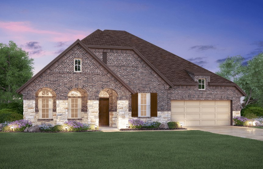 MI Homes Plan Angelina Elevation E2 in Canyon Falls