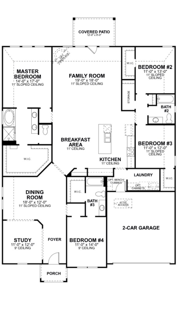 MI Homes Plan Angelina Floorplan in Canyon Falls