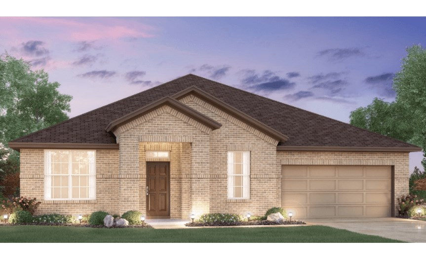 MI Homes Plan Brazos Elevation in Canyon Falls