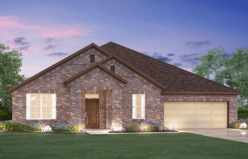 MI Homes Plan Brazos Elevation B in Canyon Falls