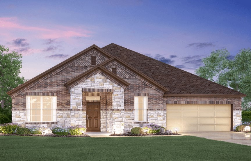 MI Homes Plan Brazos Elevation B2 in Canyon Falls