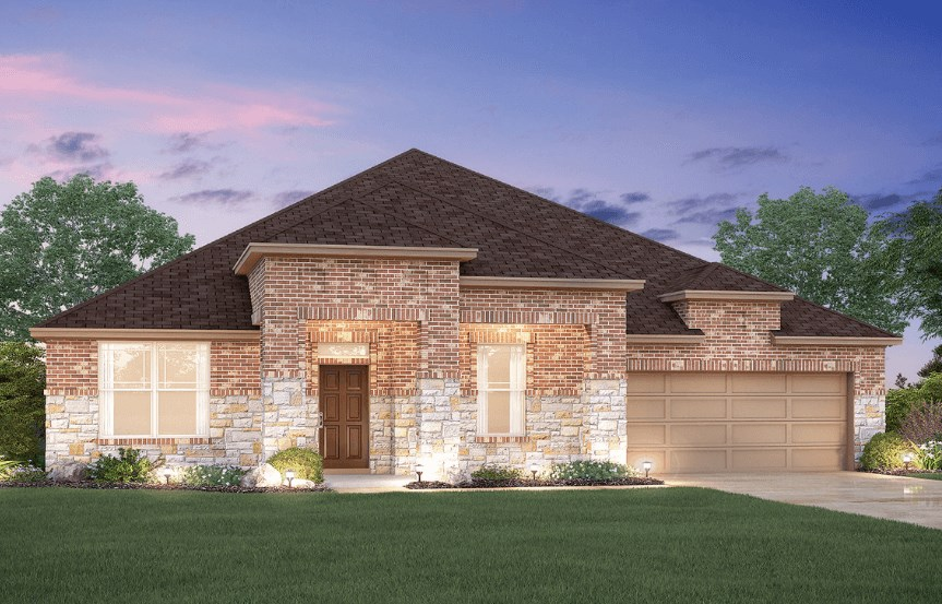 MI Homes Plan Brazos Elevation C in Canyon Falls