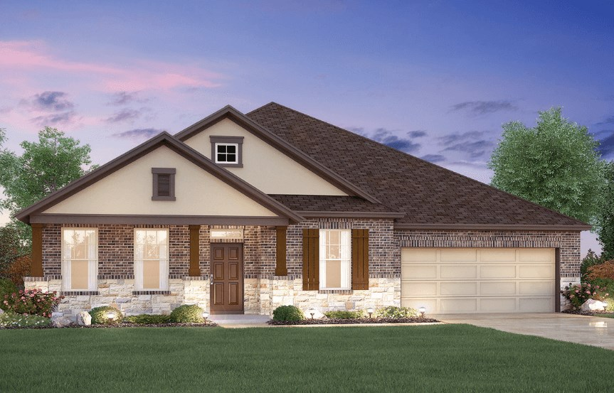 MI Homes Plan Brazos Elevation D in Canyon Falls