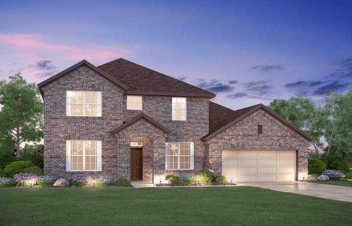 MI Homes Plan Dickinson Elevation B in Canyon Falls