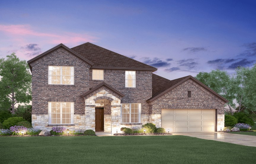 MI Homes Plan Dickinson Elevation B2 in Canyon Falls