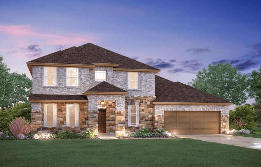 MI Homes Plan Dickinson Elevation C2 in Canyon Falls
