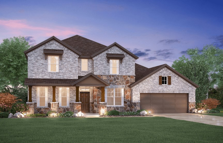 MI Homes Plan Dickinson Elevation D2 in Canyon Falls