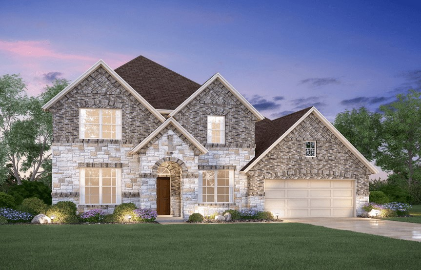MI Homes Plan Dickinson Elevation E2 in Canyon Falls