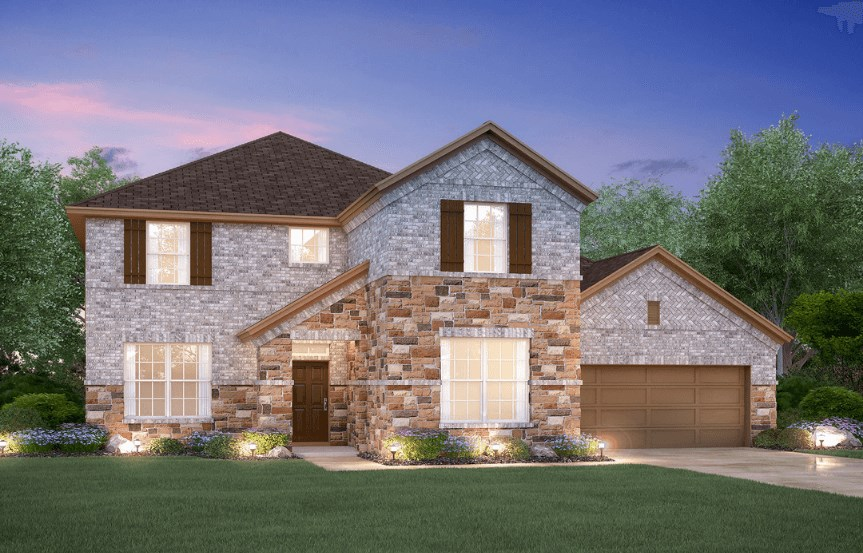 MI Homes Plan Medina Elevation B2 in Canyon Falls