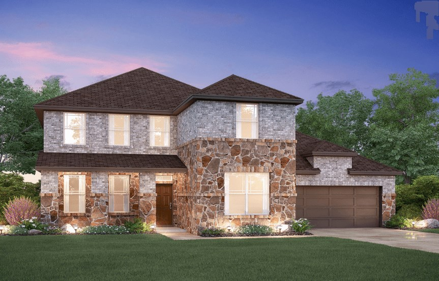 MI Homes Plan Medina Elevation C2 in Canyon Falls