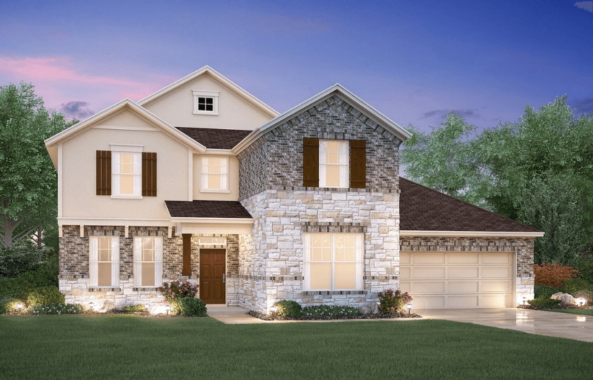 MI Homes Plan Medina Elevation D2 in Canyon Falls