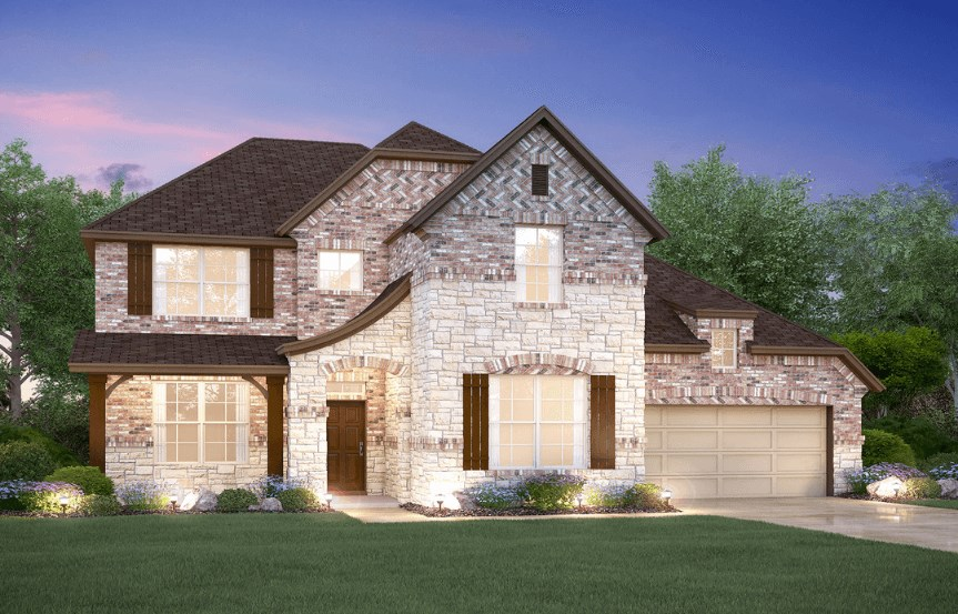 MI Homes Plan Medina Elevation E2 in Canyon Falls