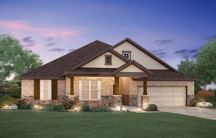 MI Homes Plan Sabine Elevation C2 in Canyon Falls