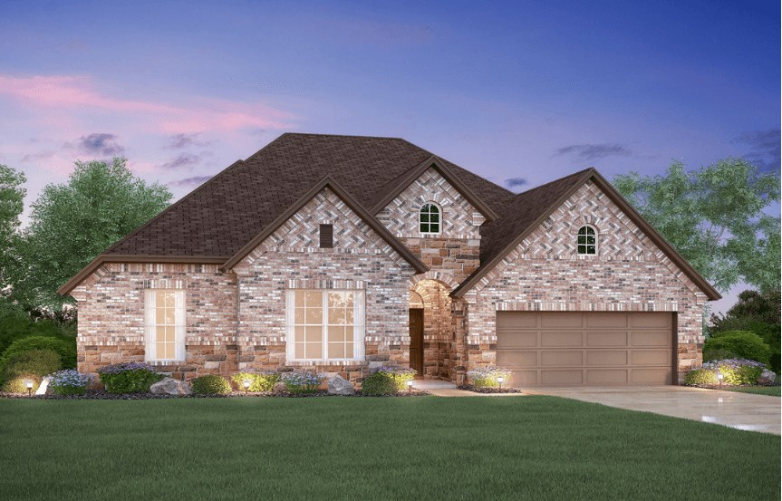 MI Homes Plan Sabine Elevation D2 in Canyon Falls