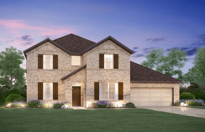 MI Homes Plan San Marcos Elevation B in Canyon Falls