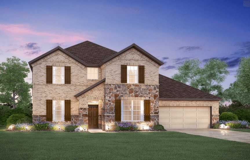 MI Homes Plan San Marcos Elevation B2 in Canyon Falls