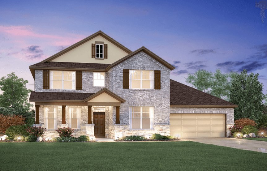 MI Homes Plan San Marcos Elevation D2 in Canyon Falls