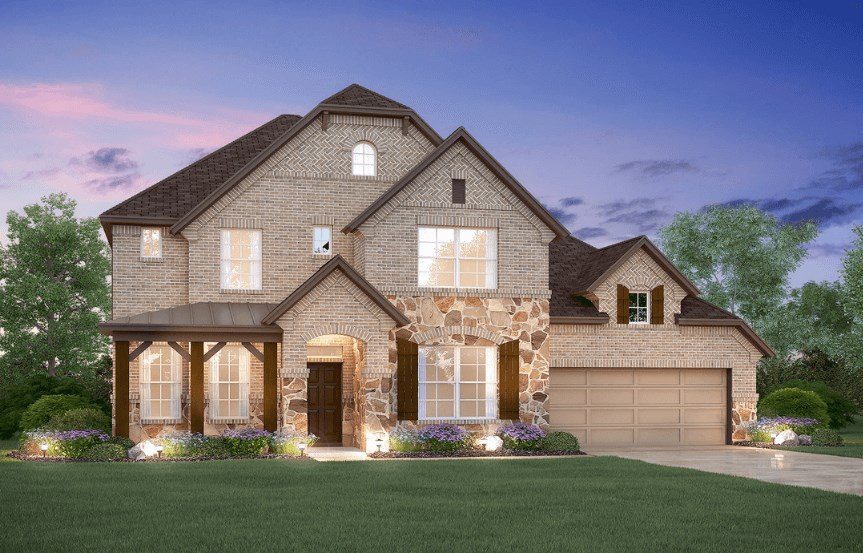 MI Homes Plan San Marcos Elevation E2 in Canyon Falls