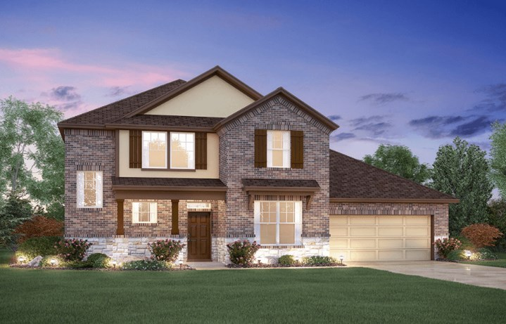 MI Homes Plan Zacate Elevation D2 in Canyon Falls
