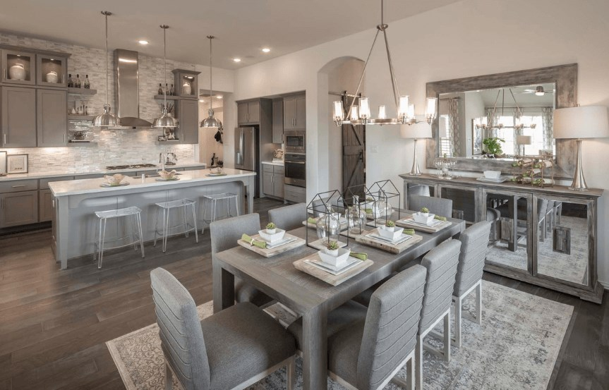 Highland Homes Plan 200 Dining Area in Canyon Falls