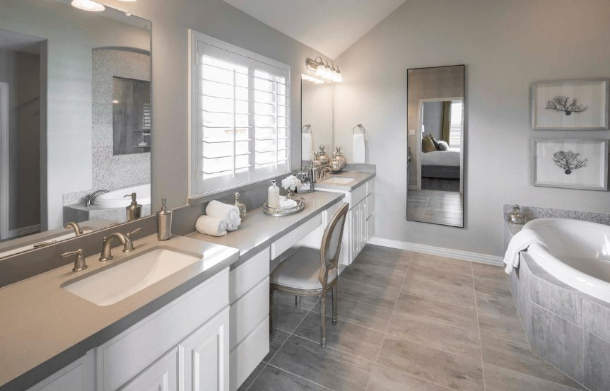 Highland Homes Plan 200 Double Sink in Canyon Falls