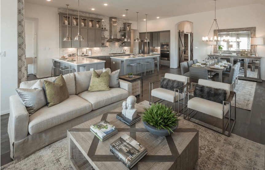 Highland Homes Plan 200 Great Room in Canyon Falls