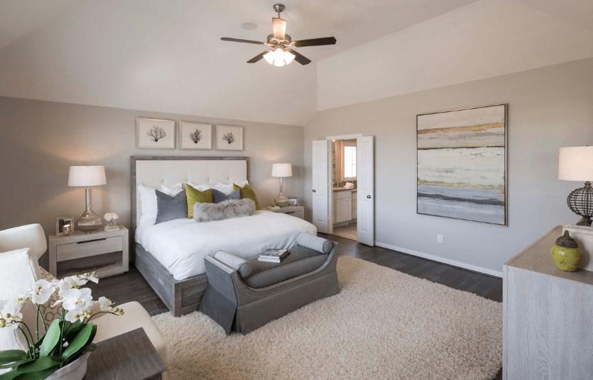 Highland Homes Plan 200 Master Suite in Canyon Falls