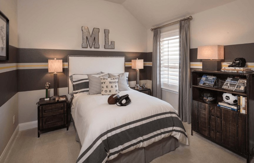 Highland Homes Plan 204 Bedroom 3 in Canyon Falls
