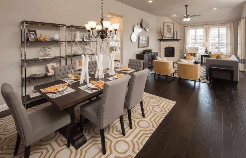 Highland Homes Plan 204 Dining Room in Canyon Falls