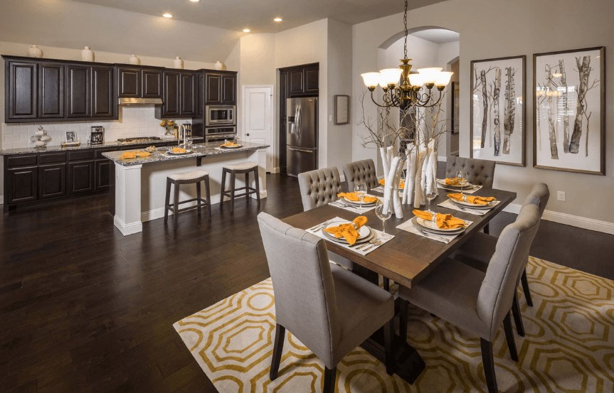 Highland Homes Plan 204 Dining Area in Canyon Falls