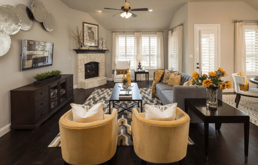 Highland Homes Plan 204 Living Room in Canyon Falls
