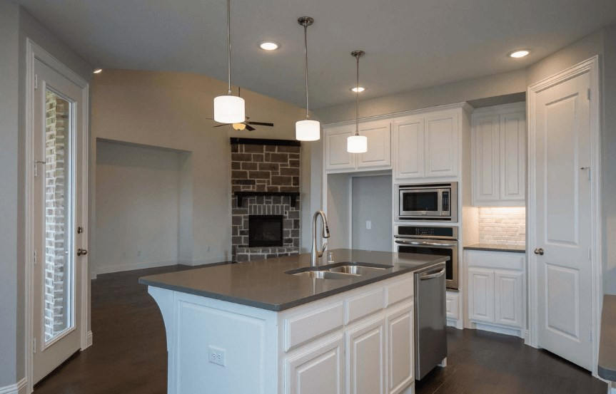 Highland Homes Plan 206 Kitchen Island in Canyon Falls