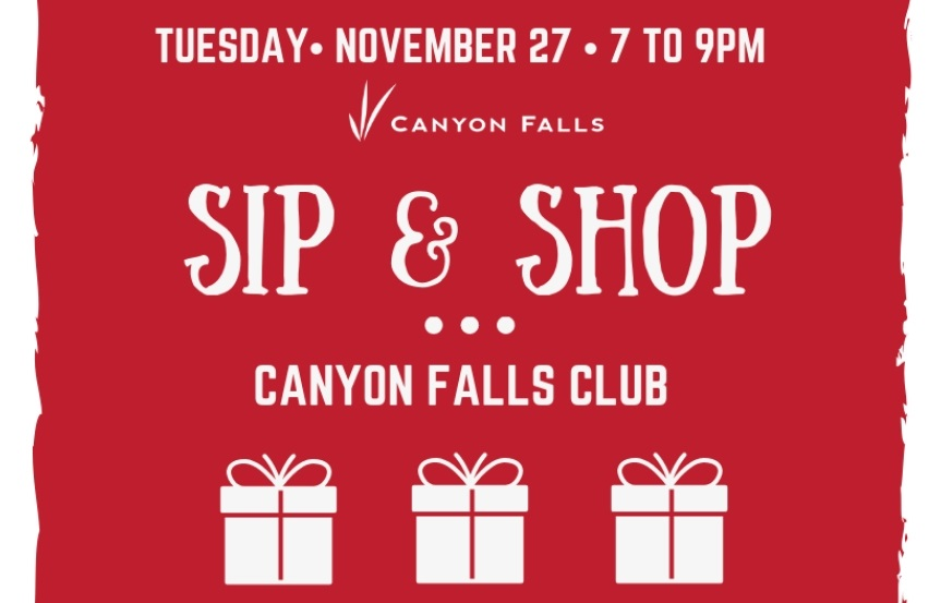 Sip & Shop Resident Event at Canyon Falls Club