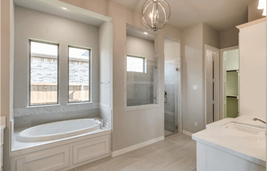 Drees Homes Plan Tanner Master Bath in Canyon Falls