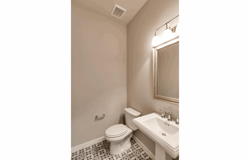 Drees Homes Plan Tanner Powder Room in Canyon Falls