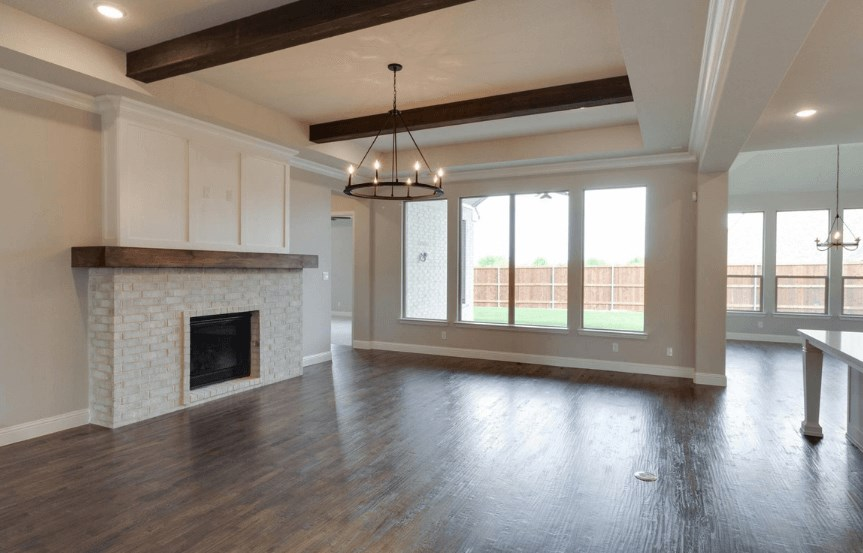Drees Homes Plan Lorenzo Family Room in Canyon Falls