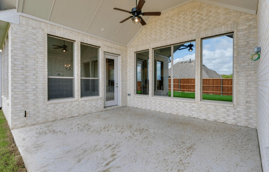 Drees Homes Plan Lorenzo Patio in Canyon Falls