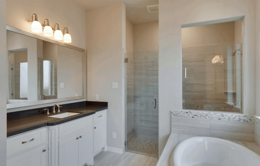 Drees Homes Plan Lorenzo Shower in Canyon Falls