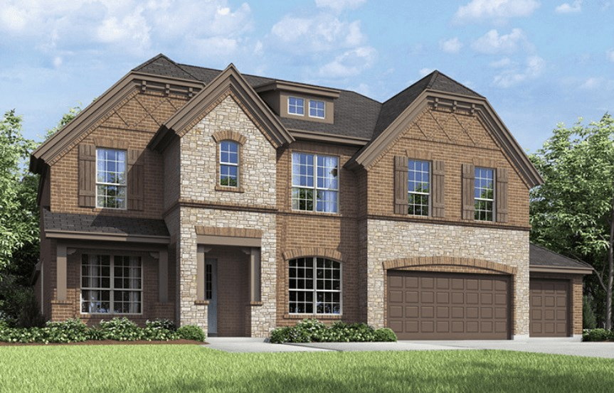 Landon Homes Venetian Elevation A in Canyon Falls
