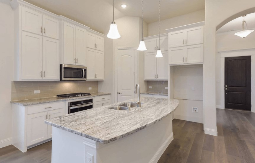 Coventry Homes Plan 2153 C Kitchen Island in Canyon Falls