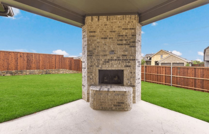 Coventry Homes Plan 2153 C patio in Canyon Falls